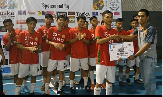 Juara 1 Turnamen Futsal Tingkat SMA/SMK/MA Kabupaten Kebumen dalam rangka Forum OSIS Kebumen Cup 2019