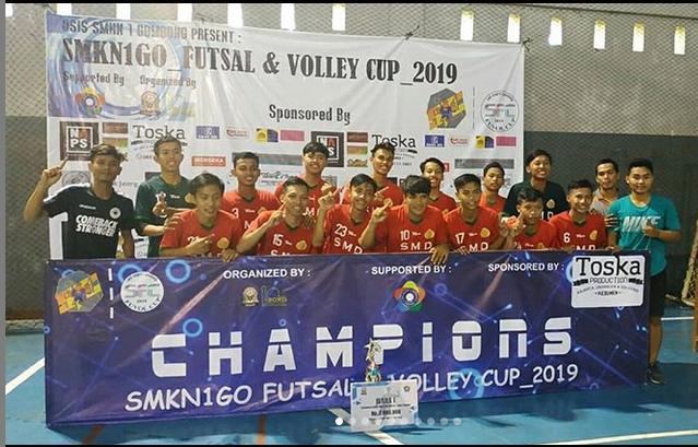 Juara 1 Turnamen Futsal Fuvol Stemsago Tingkat SMA/SMK/MA Tingkat Jawa Tengah Tahun 2019.