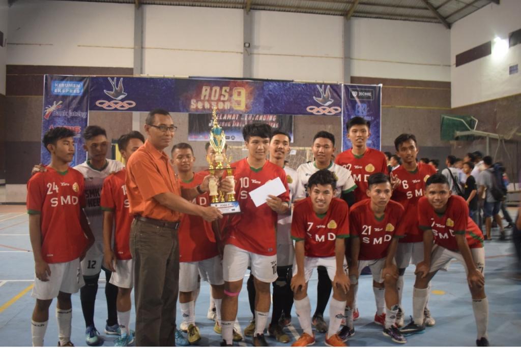 Juara 2 Turnamen Futsal Putra Tingkat SMA/SMK/MA se Kedu Banyumas dalam rangka AOS Season 9 SMA Negeri 2 Kebumen Tahun 2019