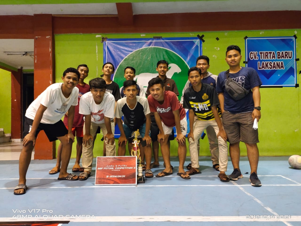 Juara 3 Turnamen AAF Futsal Competition Tingkat SMA/SMK/MA se-Jateng dan DIY Tahun 2019