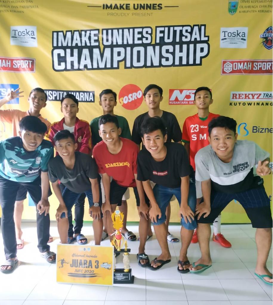 Juara 3 Turnamen IMAKE UNNES Futsal Championship Tingkat SMA/SMK/MA se-Kabupaten Kebumen Tahun 2020